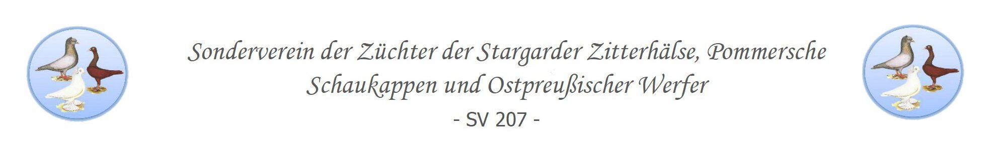 Sonderverein der Züchter der Stargarder Zitterhälse, Pommerschen Schaukappen und Ostpreußischer Werfer